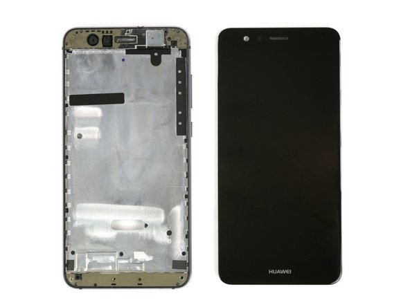 Grab the phone at the upper part and seperate the display from the frame while working the flex cable through the gap.
