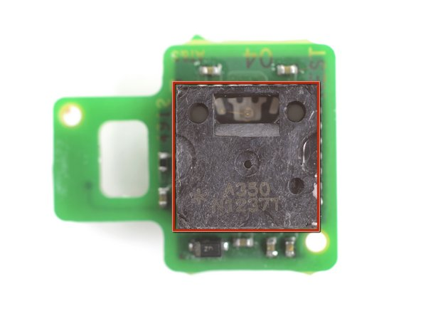 Image 3/3: Using the tweezers, grasp the small green piece of exposed board on the sensor, and pull directly away from the side of the motherboard.