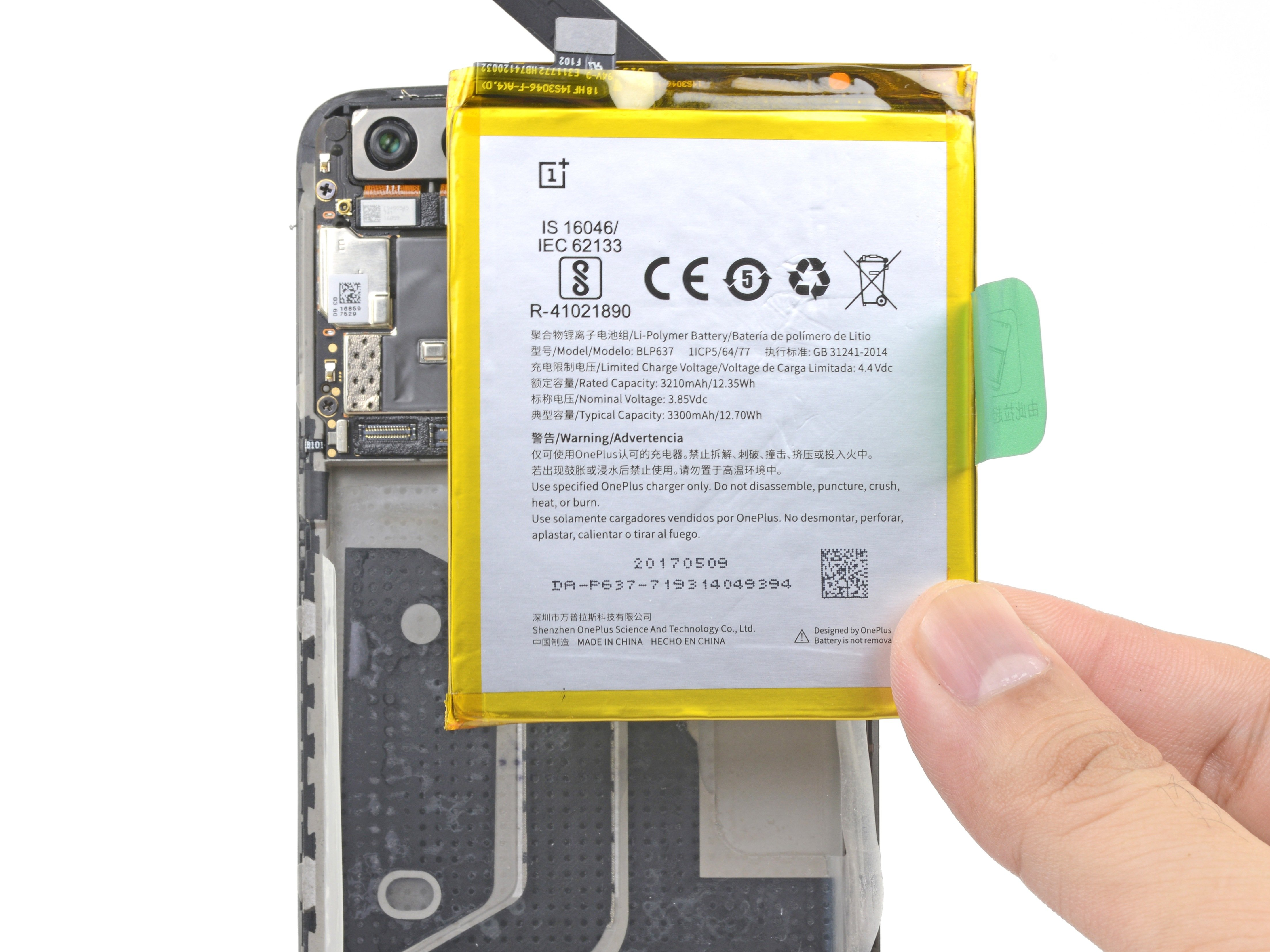 OnePlus 5 Battery Replacement - iFixit Repair Guide