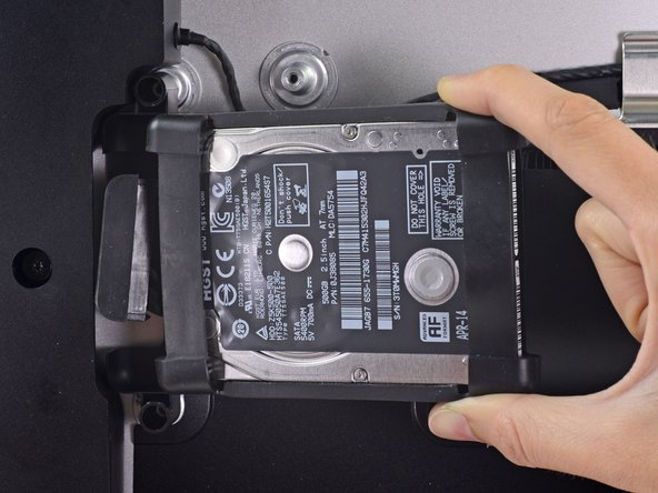 Remove the hard drive assembly from the iMac.