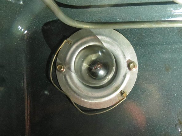View the light bulb without the glass case and ensure there is nothing else securing it to the oven.