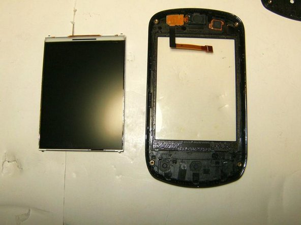 Here is the LCD removed. LCD and Digitizer are separate piece which makes the a economical feasible repair.