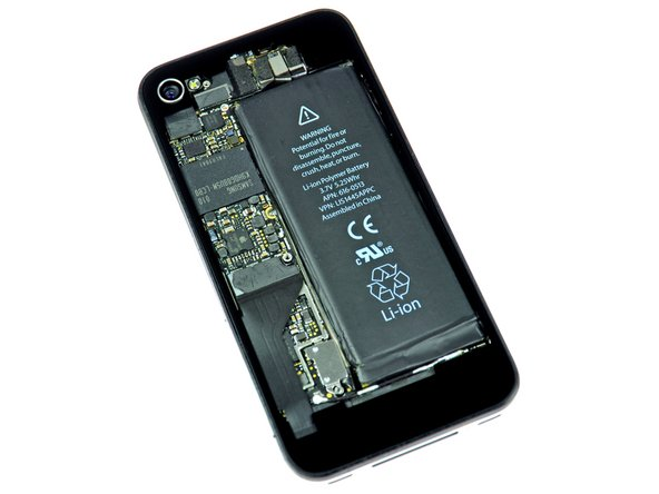 iPhone 4 with transparent rear panel