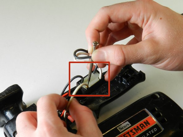 Using a Phillips #00 screwdriver or a small diameter screwdriver, gently insert it into the leads. When the screwdriver is inserted into the lead, it will release the wire.