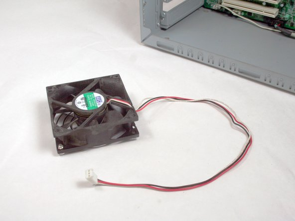 Removing HP Compaq dx2000MT Case Fan