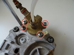 Support valve on the thermoblock