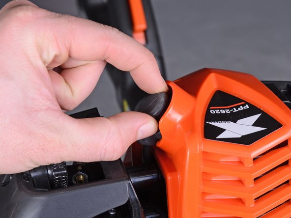 """Move the stop switch into the """"stop"""" position to turn the pruner off before attempting any repairs."""