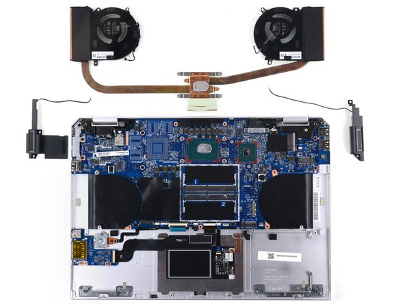 The heatsink assembly is also accessible upon opening.
