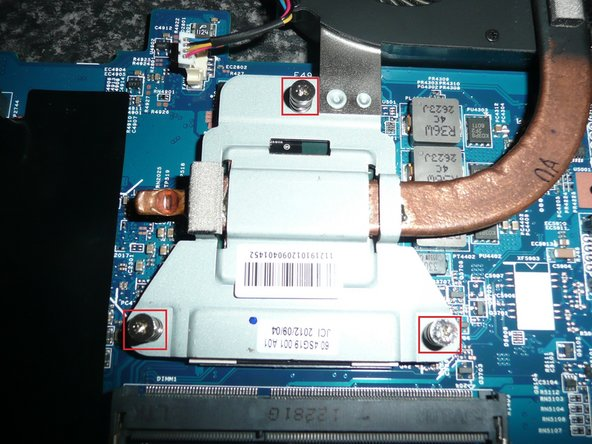 Image 2/3: Lift out the Fan and the heat sink it is attached to.