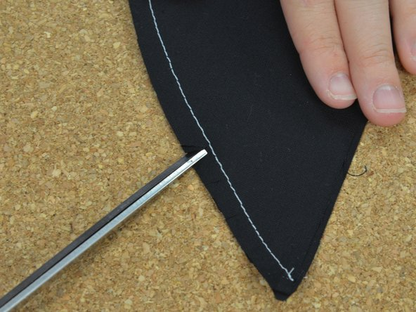 Image 1/3: The more triangles you cut, the smoother your seam will lay.