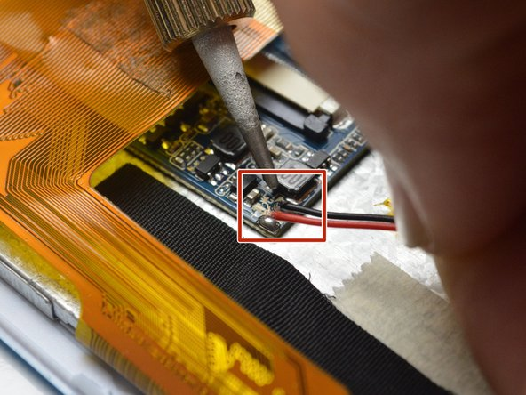 Using your soldering iron, desolder the six wires on the side of the logic board.