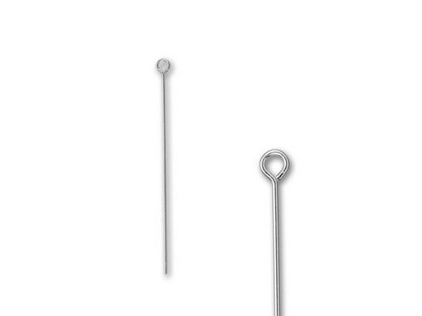 Silver Filled 1.25 inch Eye Pin - 24 Gauge Main Image