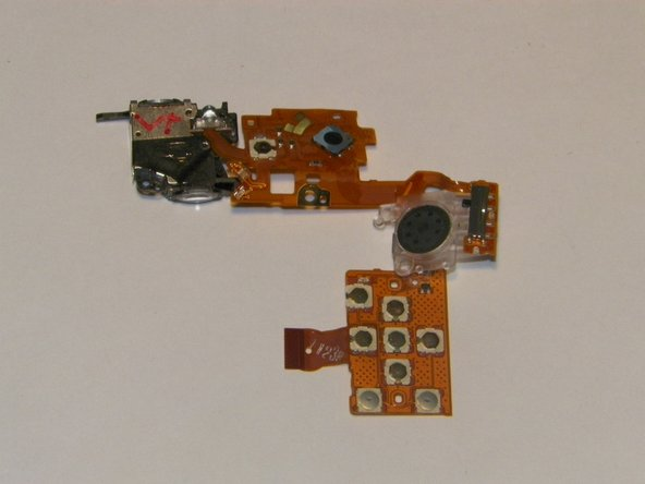 The rear control board should now be completely separate from the camera.