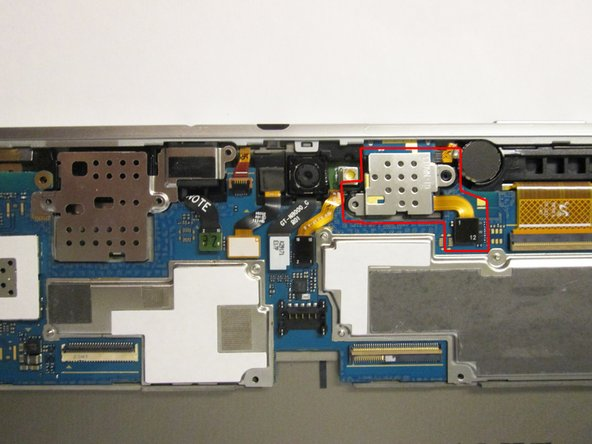 Starting with the black motherboard connector, remove the module indicated by the red box in the second picture.