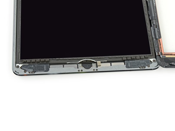 The third image shows the two antennas and the home button cavity in the lower case of the iPad.