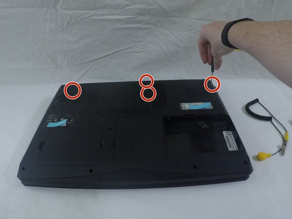 "Image 1/3: '''Remove the Component Cover''' by removing the 6 mounting screws with the 3/32"" screwdriver."