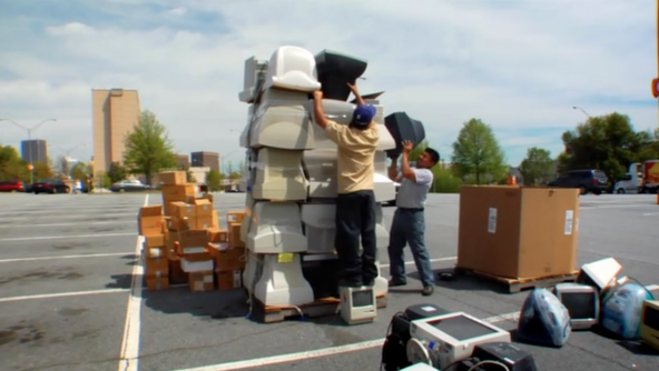 Image of the e-waste problem in the Terra Blight documentary