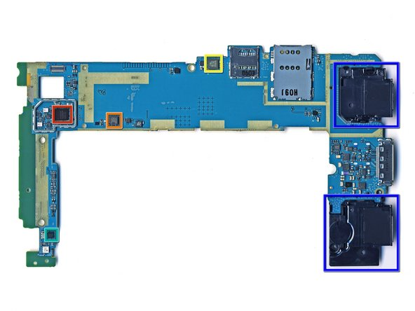 Back side of the motherboard.