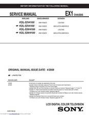 KDL-52W4100 Service Manual