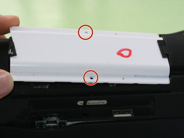 If you want to access the battery, just unscrew the 2 screws from the white plastic