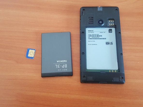 Remove the battery and the sim card