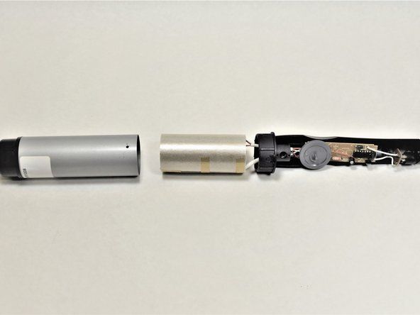 Remove the cylindrical barrel shell by sliding it away from the devices main heating element. wisdom here.