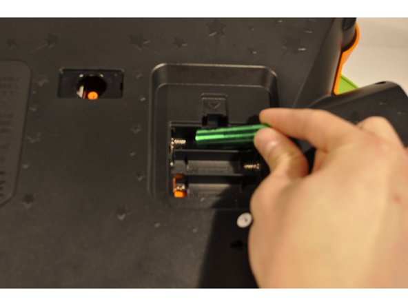 Insert new batteries inside their designated slots with the positive and negative ends match according to the device.