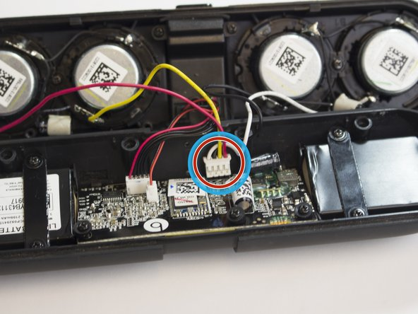 Remove the speaker wire(yellow, red, black, white) from the mother board.