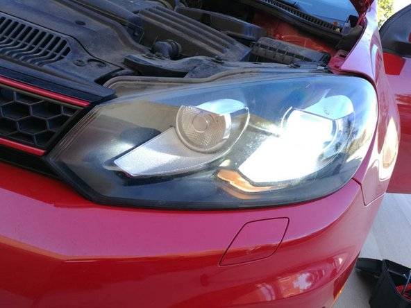 Put all the components back in place and enjoy your new HID headlights.