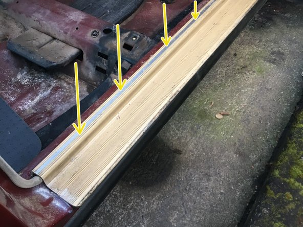 Mercedes W123 Door Sill Disassembly