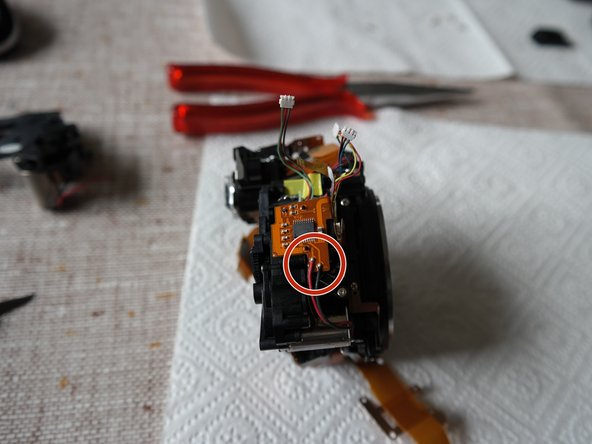 Unsolder the motor cable