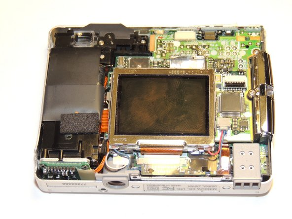 Minolta Dimage Xt LCD Screen Disassembly