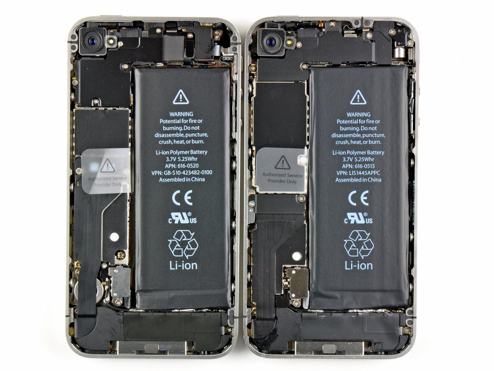 iPhone 4 teardown internals comparison