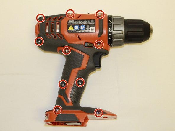 Remove the battery from the drill before you begin.