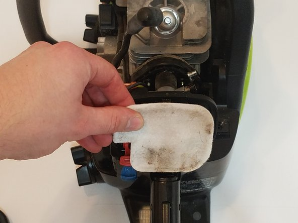 Remove the air filter from the housing  and set aside
