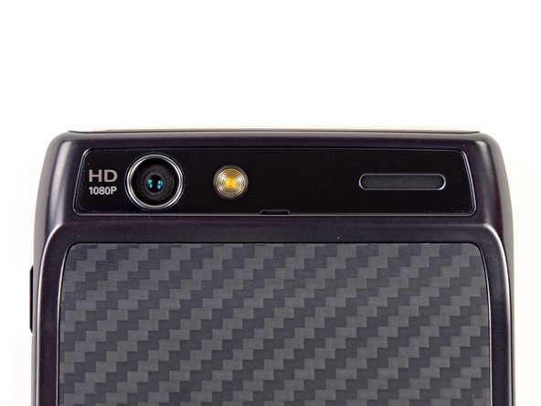 Image 2/3: Looking at the rear of the phone gives us a glance at the 8 megapixel HD camera and Kevlar rear cover.