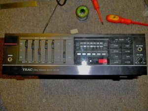 Reflowing solder joints on a TEAC GSA-5300 stereo integrated amplifier