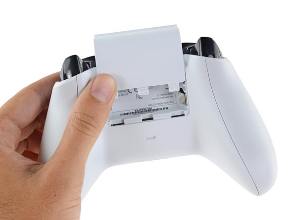 Image 1/3: While we are disappointed by the lack of visible screws, we will celebrate a small concession: the batteries are still user-replaceable! (Looking at you, [link|https://www.ifixit.com/Guide/DualShock+4+Battery+Replacement/22074#s58096|DualShock 4|new_window=true]).