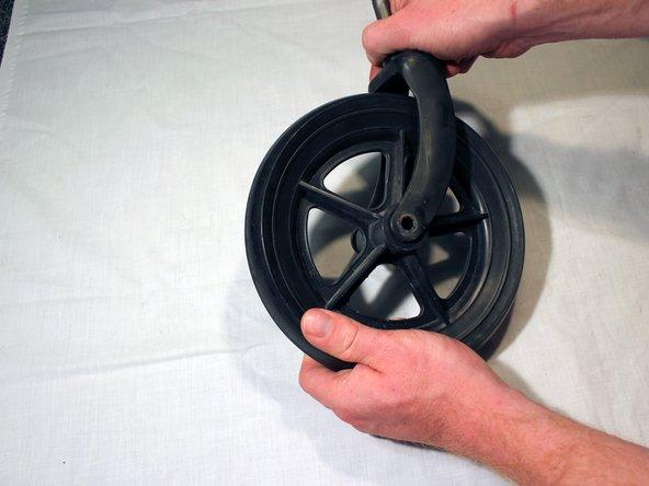 Remove the castor wheel