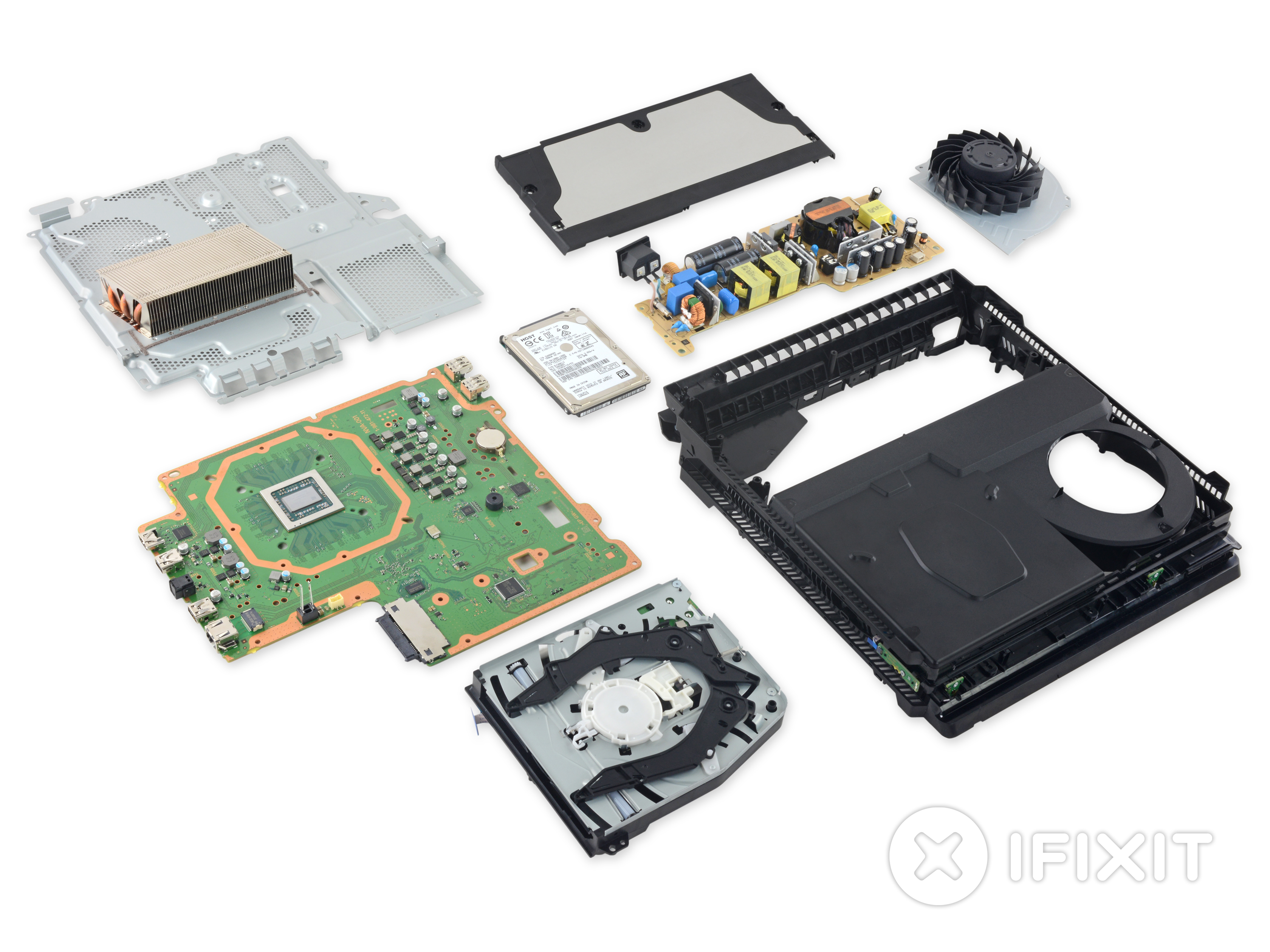 Playstation 4 Pro Teardown Ifixit Seagate Firecuda 25 Inch 2tb Sshd 5 Years Warranty Optimum Hdd For Gaming