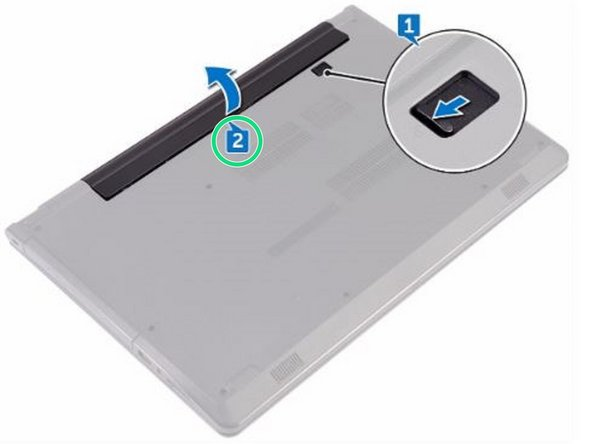 Place the battery in the battery bay and snap the battery into place.