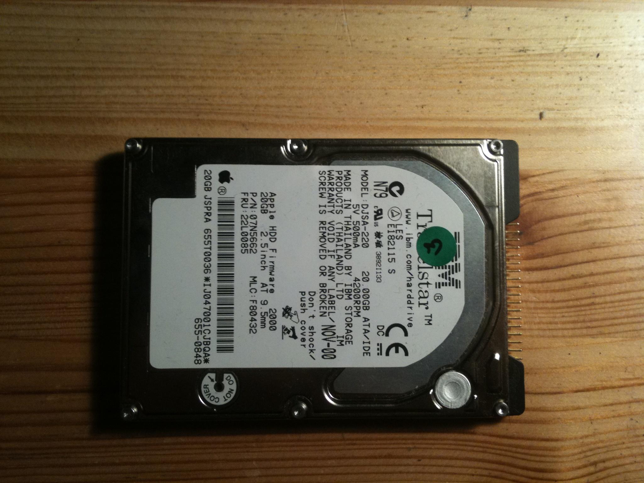 96 20 Ide Hard Disk Seagate Gb Drive Zoom 25 Usb Hdd Hardisk 80gb Ibm Travelstar Djsa 220 Teardown