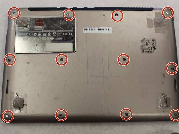 Acer Aspire S3 MS2346 Back Cover Removal