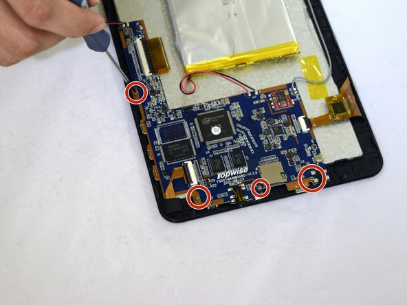Using #00 Phillips Screwdriver, remove the four 1mm screws holding the circuit board to the device.