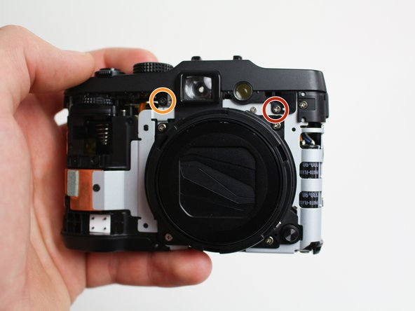 Reorient the camera so that you are looking at the front.