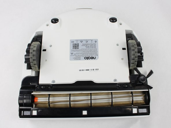Turn the robot upside down to locate the battery cover.