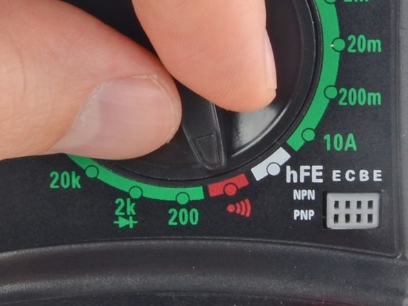 Not all multimeters have a dedicated continuity mode. If yours doesn't, that's okay! Skip to Step 6 for an alternate way to perform a continuity test.