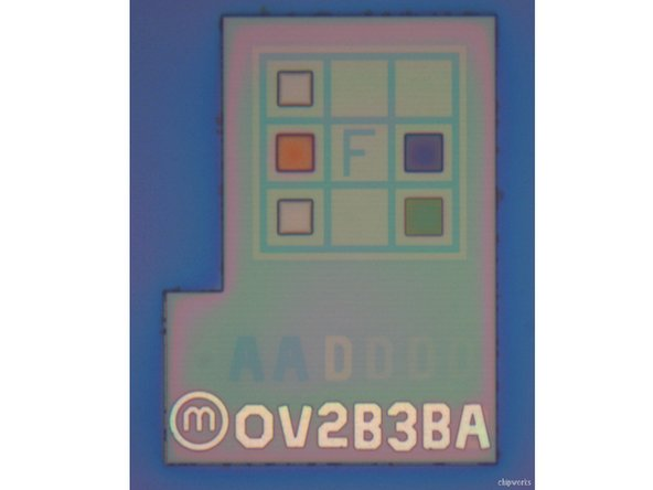 Omnivision die mark in the Droid RAZR camera
