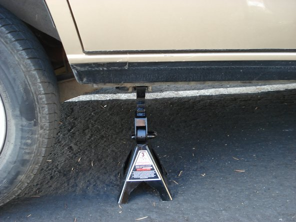 Do not work under car supported only by hydraulic jack, serious injury or death may result.