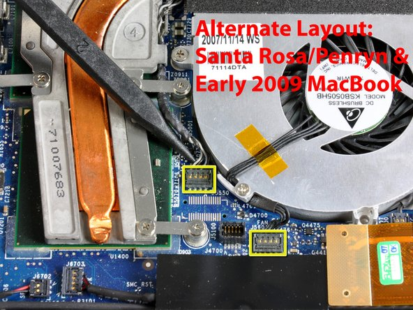 If you have a MacBook Core 2 Duo Santa Rosa/Penryn/Early 2009, there is only one temperature sensor.
